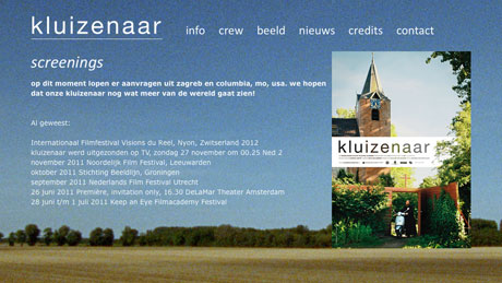 Kluizenaar – Front & back-end development, 2011